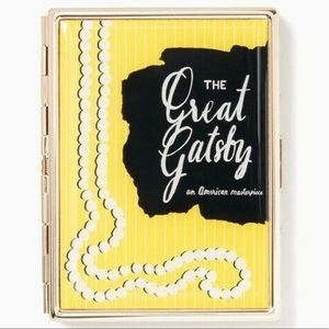 NWT KATE SPADE LENOX ID HOLDER great gatsby yellow